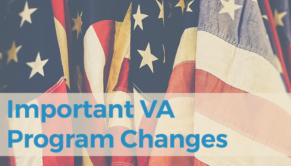 Important VA program changes